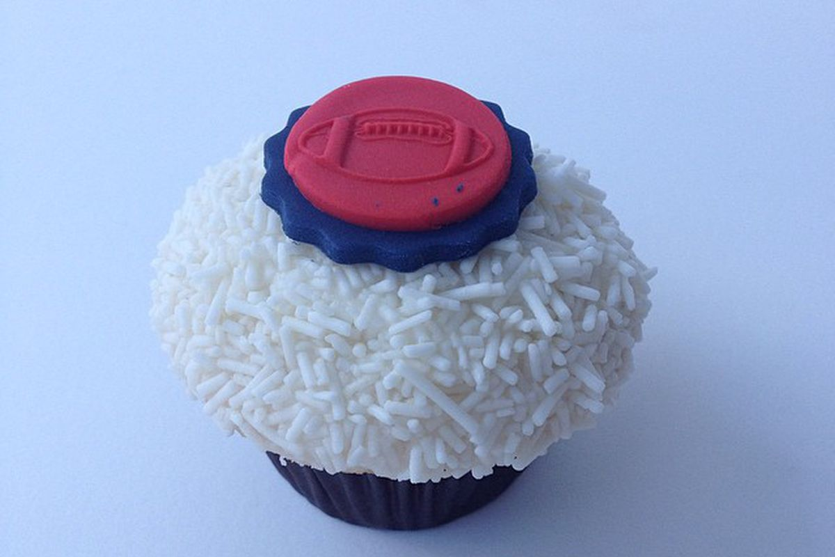 Houston Texans cupcake from Crave Cupcakes
