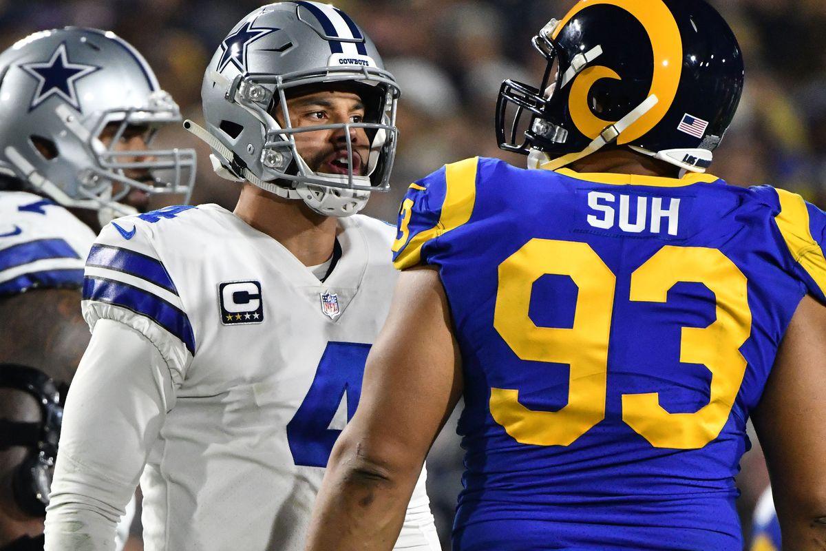 best authentic 85673 0cee9 Ndamukong Suh's stop vs. Ezekiel Elliott gets Rams to NFC ...