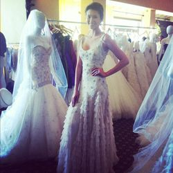 Our favorite gown of the day, by Lazaro.