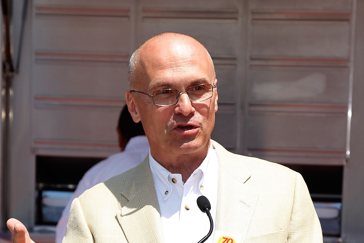Secretary of Labor nominee and fast-food CEO Andy Puzder.