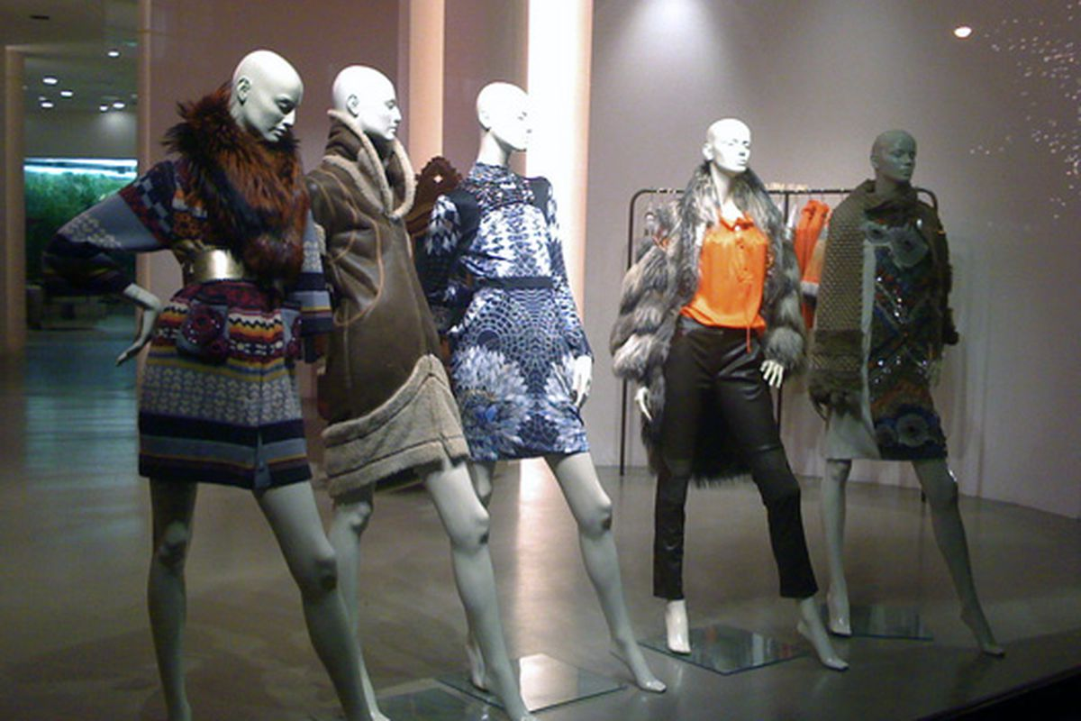 """Matthew Williamson mannequins putting their best foot forward via the <a href=""""http://www.flickr.com/photos/shoptometrist/4029868967/in/pool-rackedny/"""">Shoptometrist</a>/Racked Flickr Pool"""