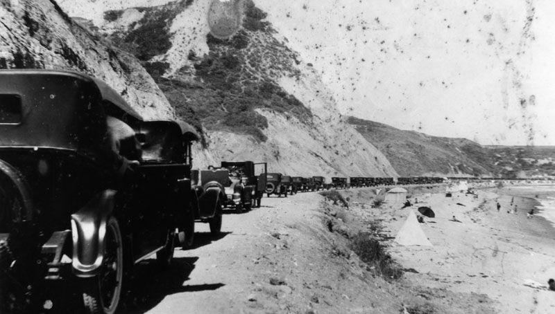 Vintage cars in Malibu