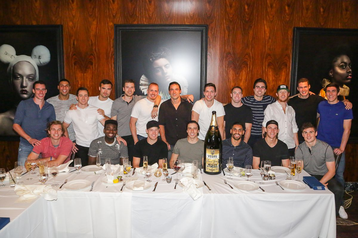 The Vegas Golden Knights dine at Scotch 80 Prime