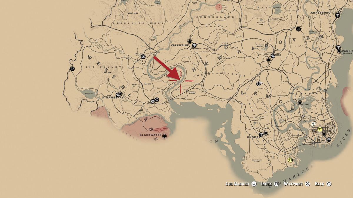 Red Dead Redemption 2Legendary Chain Pickerel location