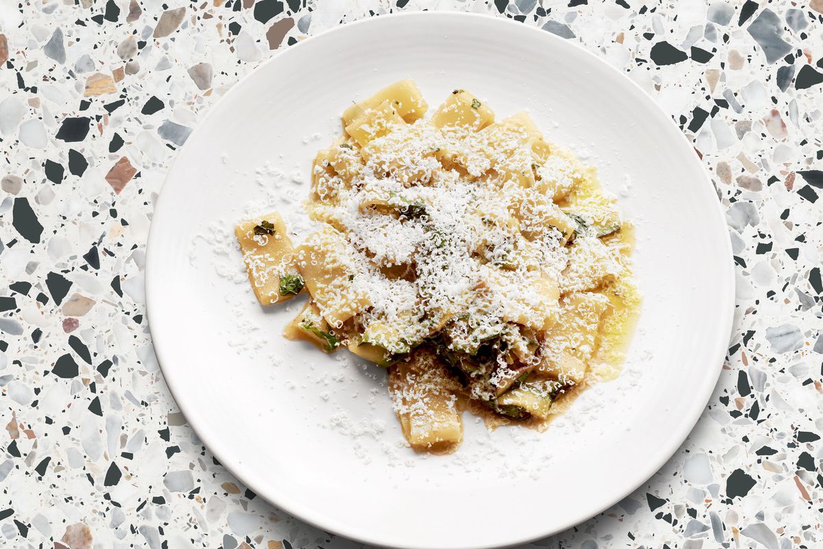 Pasta at Pastaio in Soho which will pop up at Giant Robot in Canary Wharf