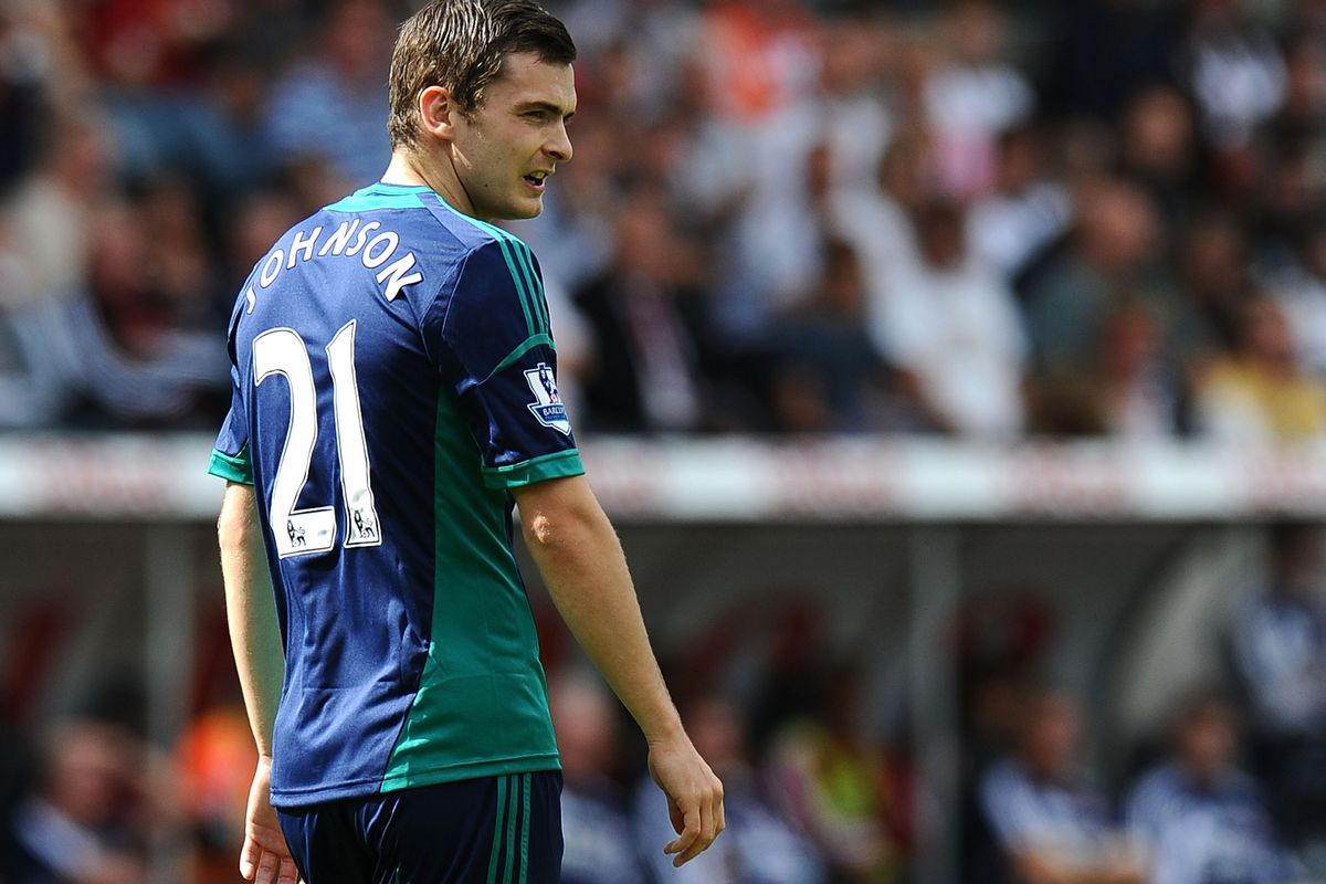 Adam Johnson has withdrawn from the England squad with a 'minor' thigh injury.