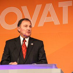 """FILE """""""" Gary Herbert at Utah Economic Summit 2016. Recommendations aimed at boosting the viability of Utah's water supply through 2060 — when the state's population is expected to double — are contained in a report released Thursday and headed to Gov. Gary Herbert's desk."""
