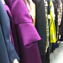 A last glimpse of the designer racks before we were chased out by a security staffer.