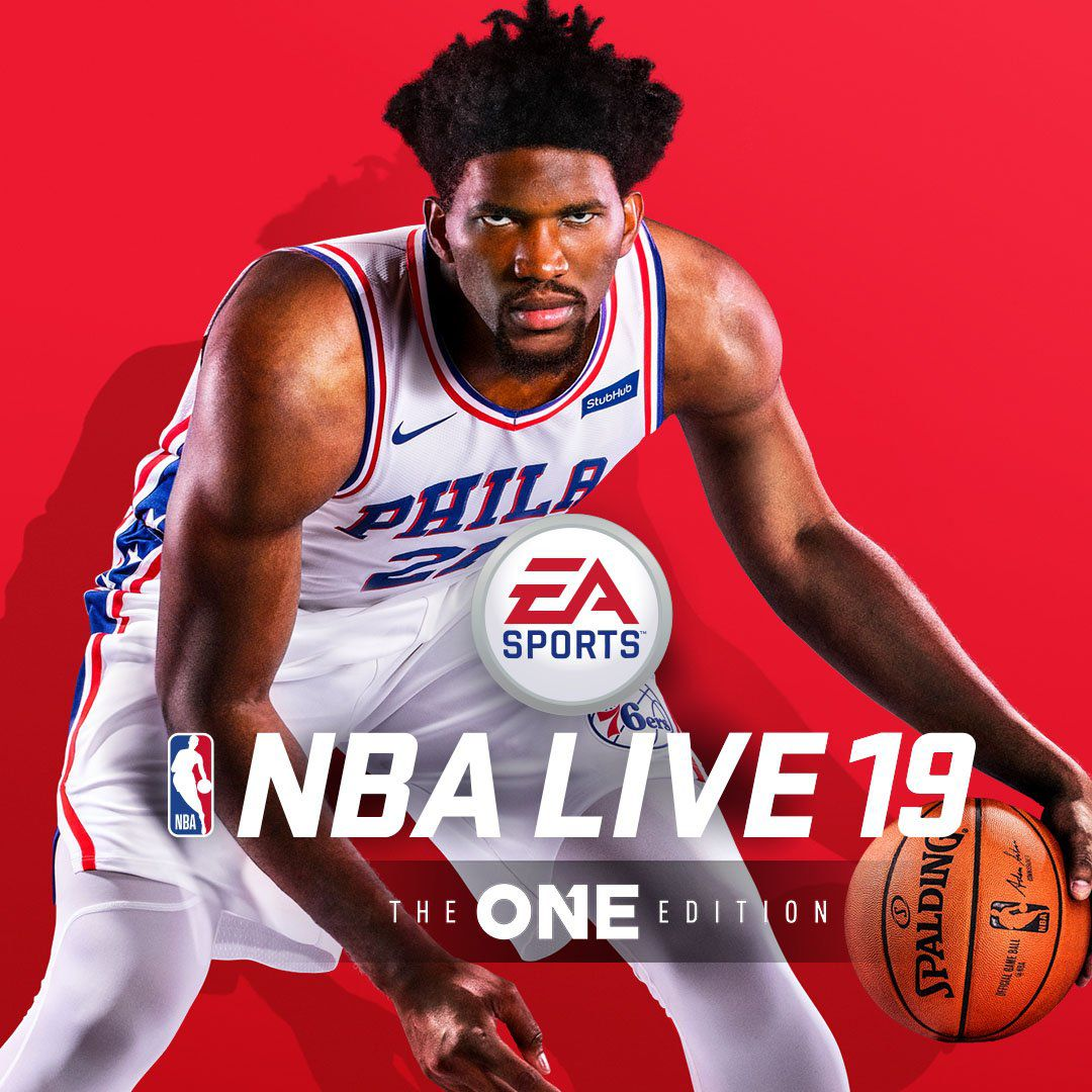 NBA Live 19 Joel Embiid cover artwork