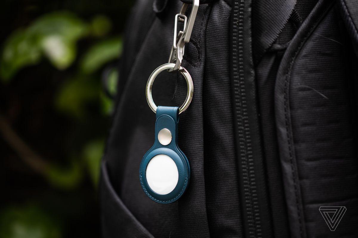 AirTag su un accessorio portachiavi Apple