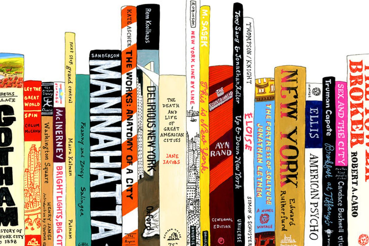 "<a href=""http://www.20x200.com/artworks/3880-jane-mount-ideal-bookshelf-364-nyc"">""Ideal Bookshelf 364: NYC""</a> by Jane Mount"