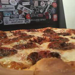 Este Pizza in Sugar House offers many pizza varieties, including the Double Baked Roni.