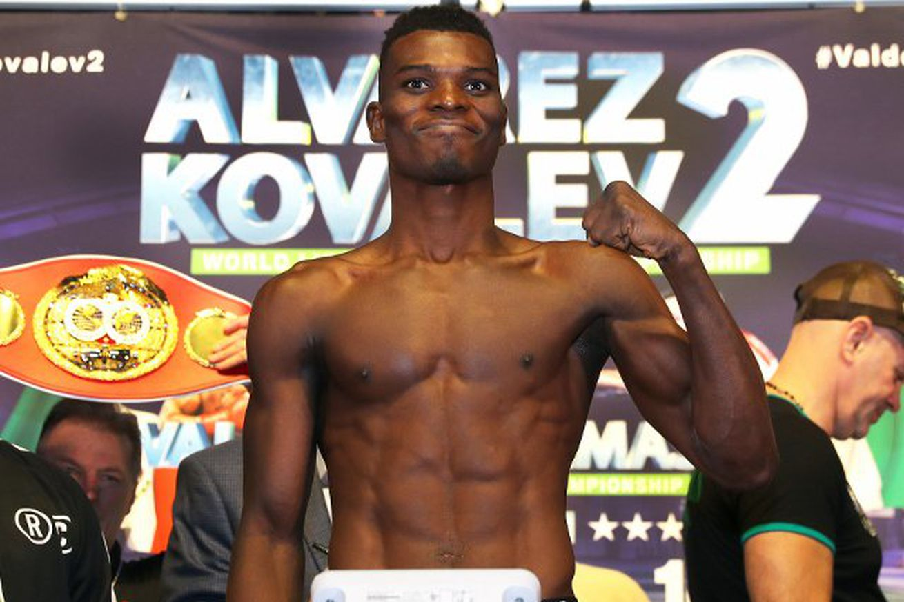 commey tr.0 - Commey blasts through Chaniev, wins IBF title