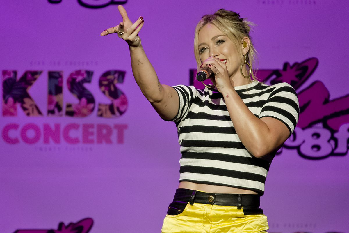 Hilary Duff Performs At The KISS 108 Concert