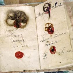 Craft samplers inspired mementos made from the tresses and locks of loved ones.