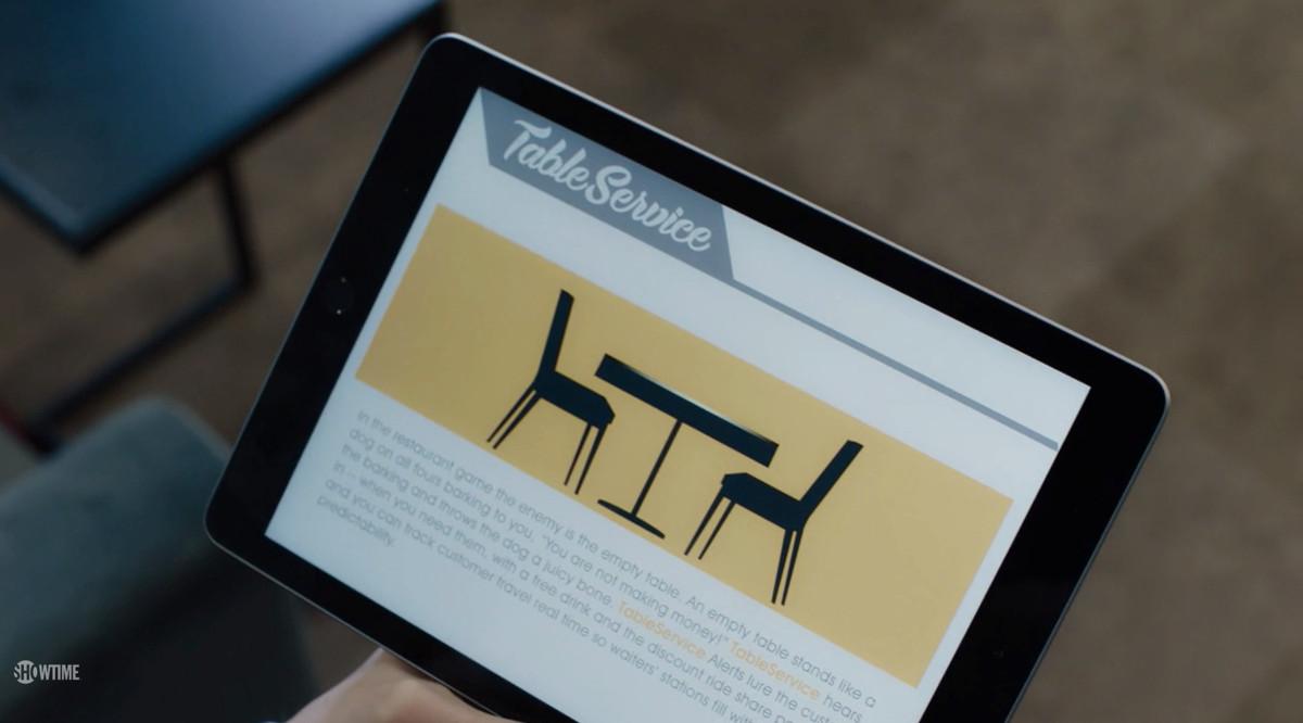 Screenshot of the 'Billions' app Table Service
