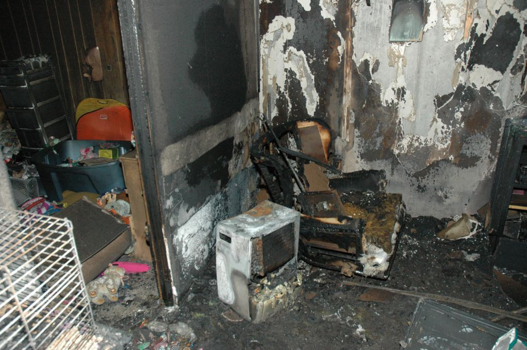 Damage caused by a fire caused by a recalled dehumidifier. | Consumer Product Safety Commission