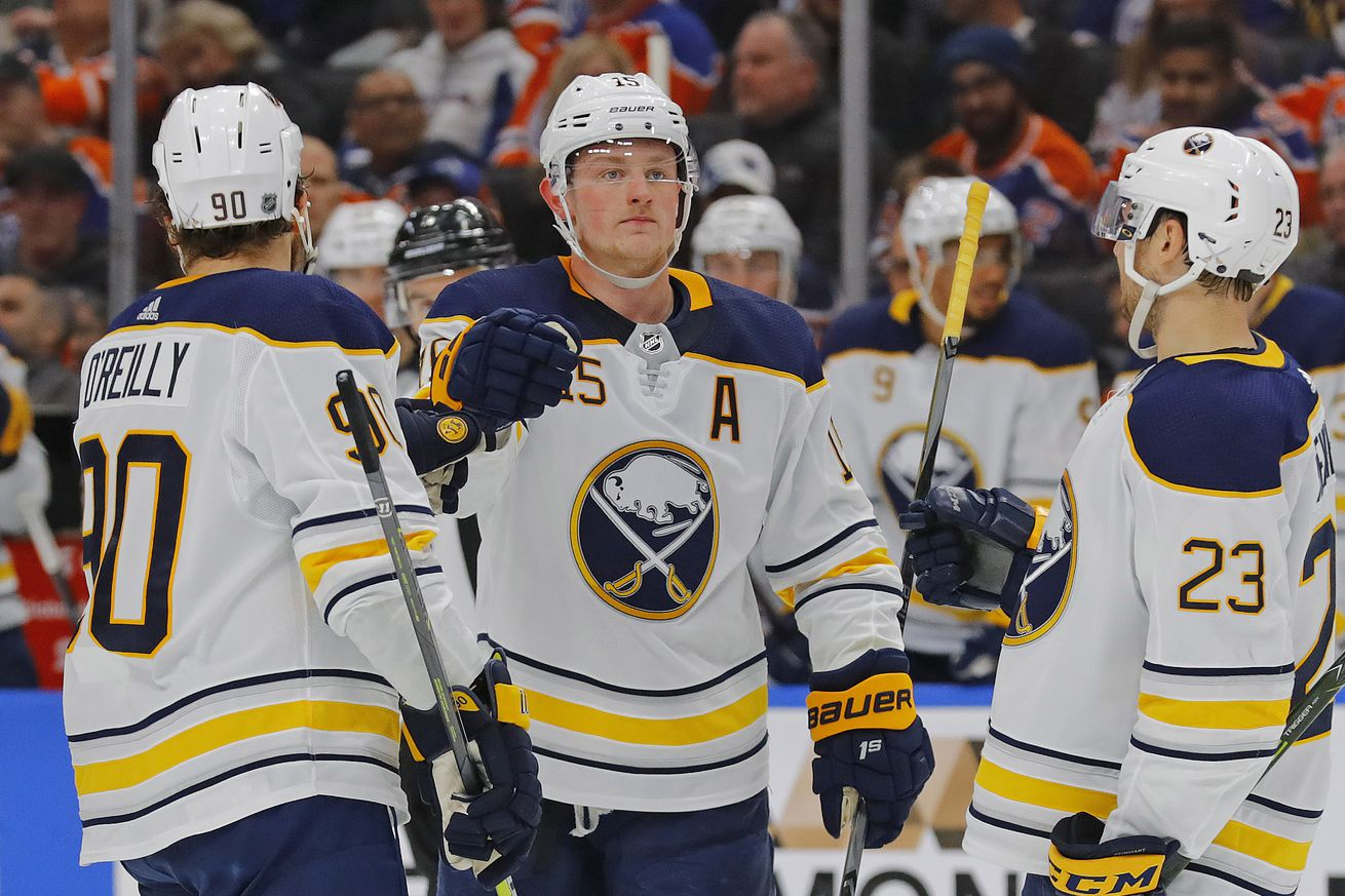 Eichel Leads Sabres to Rout of the Oilers