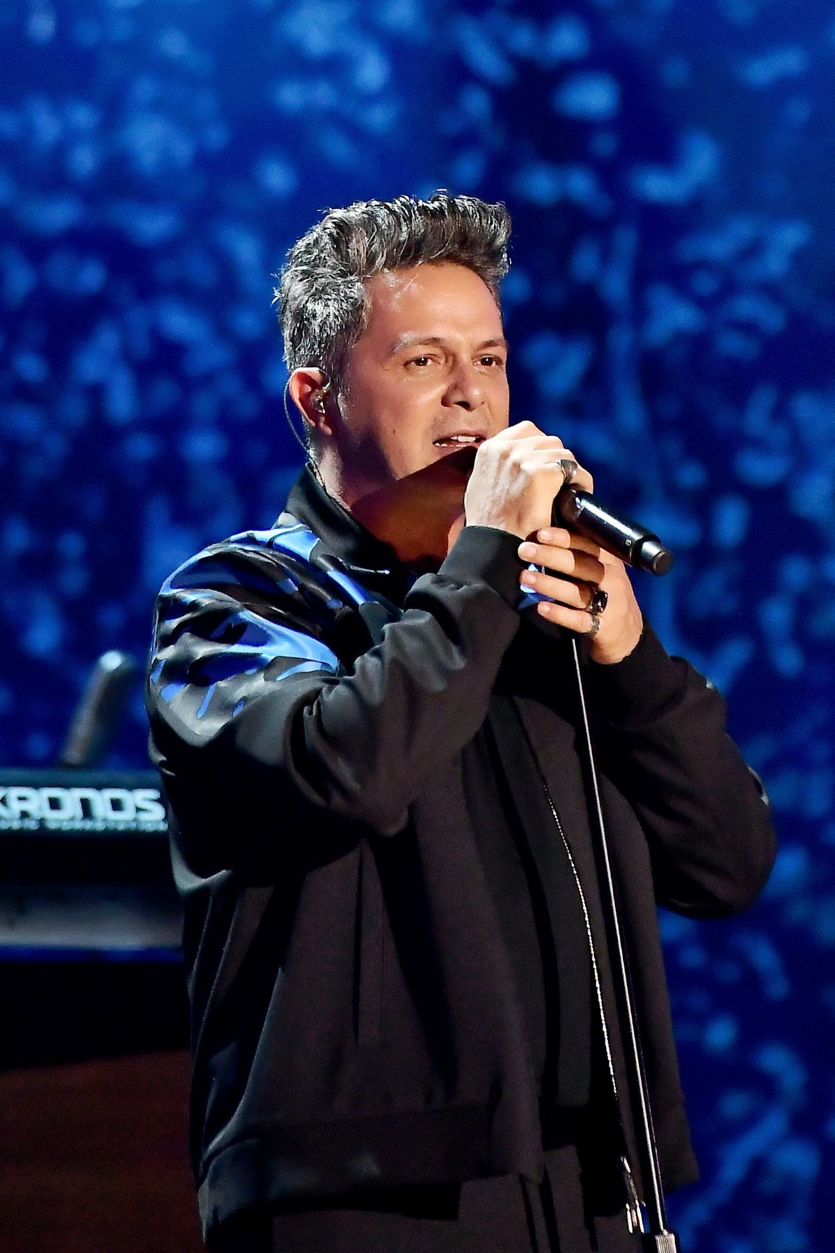Alejandro Sanz performs onstage during the 18th Annual Latin Grammy Awards at MGM Grand Garden Arena in 2017 in Las Vegas.