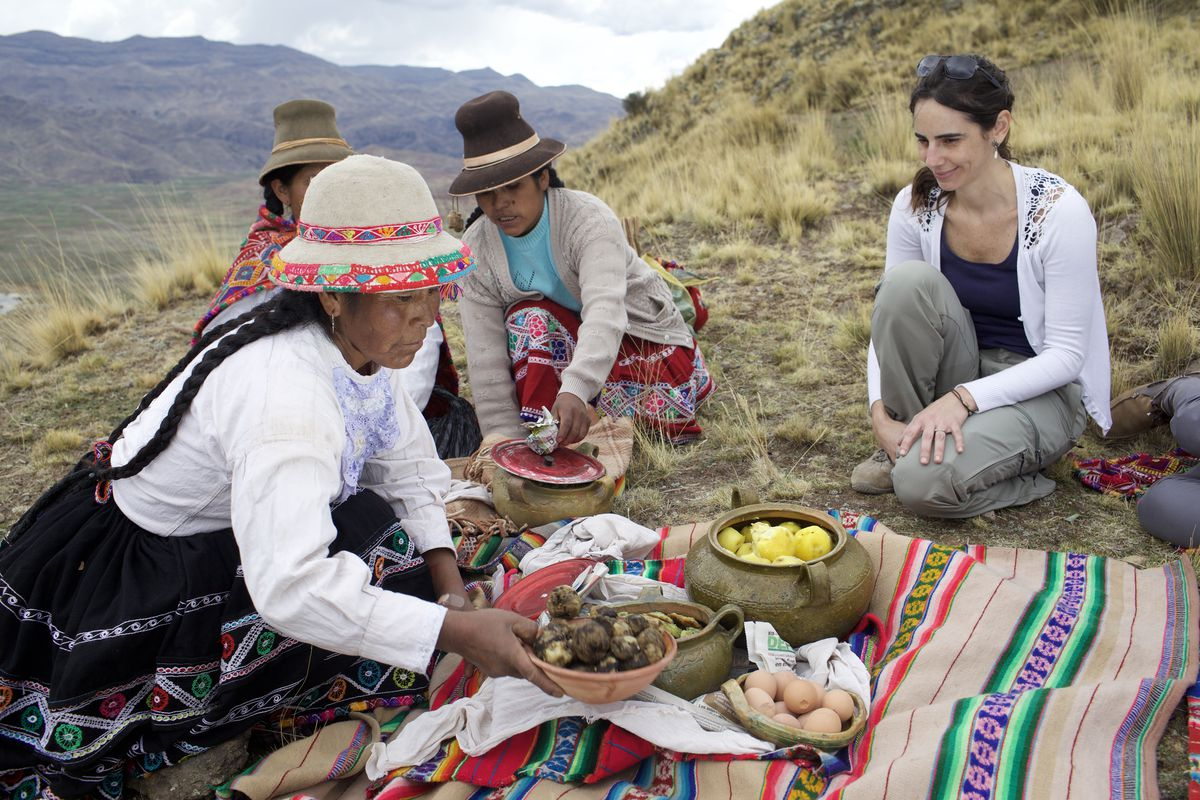 Malena Martínez works with a local community