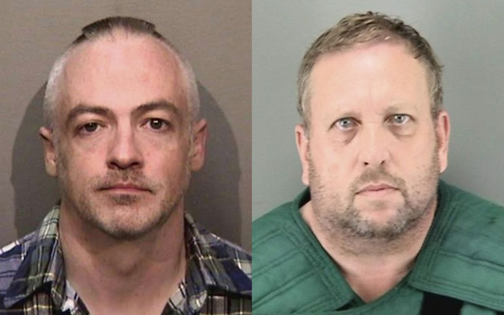 Wyndham Lathem (left), and Andrew Warren face charges in the death of a young hairdresser. | Law enforcement mugshots via AP