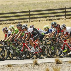 Tour of Utah riders compete on the Mountain View Corridor in Salt Lake County on Thursday, Aug. 4, 2016.