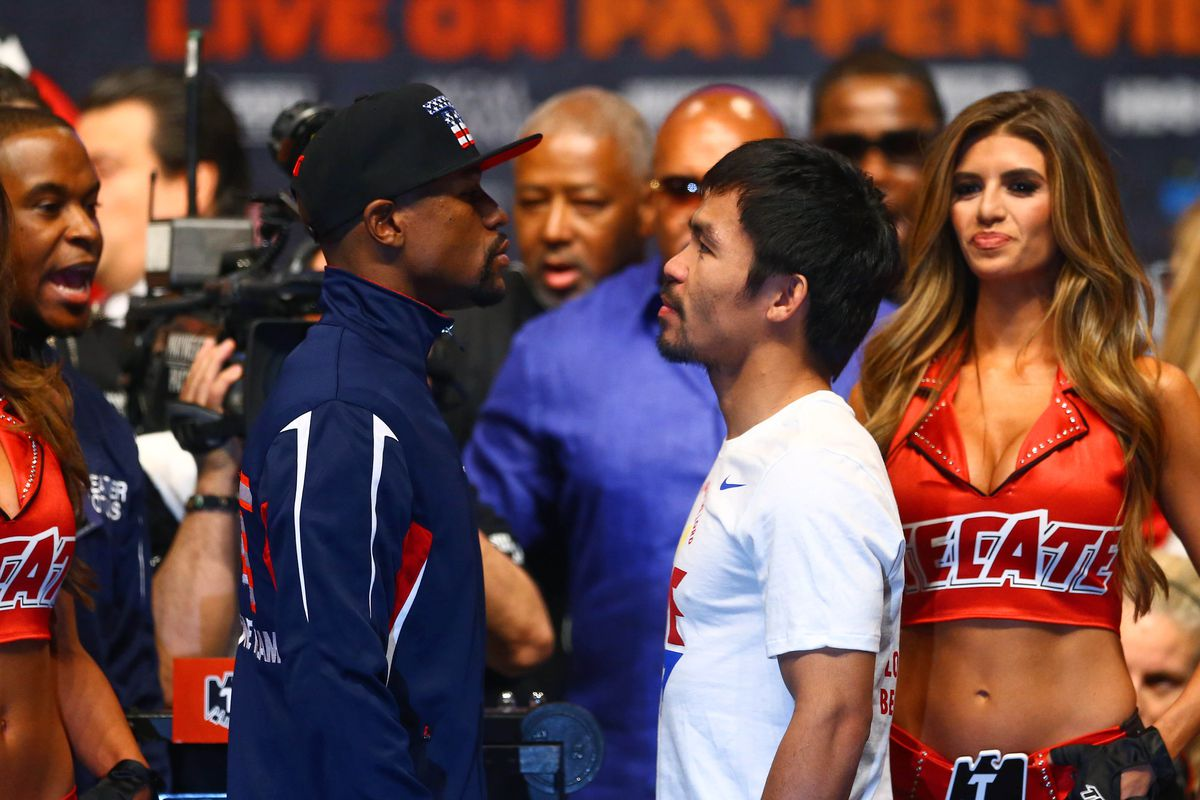 Floyd Mayweather battles Manny Pacquiao in the main event Saturday night.