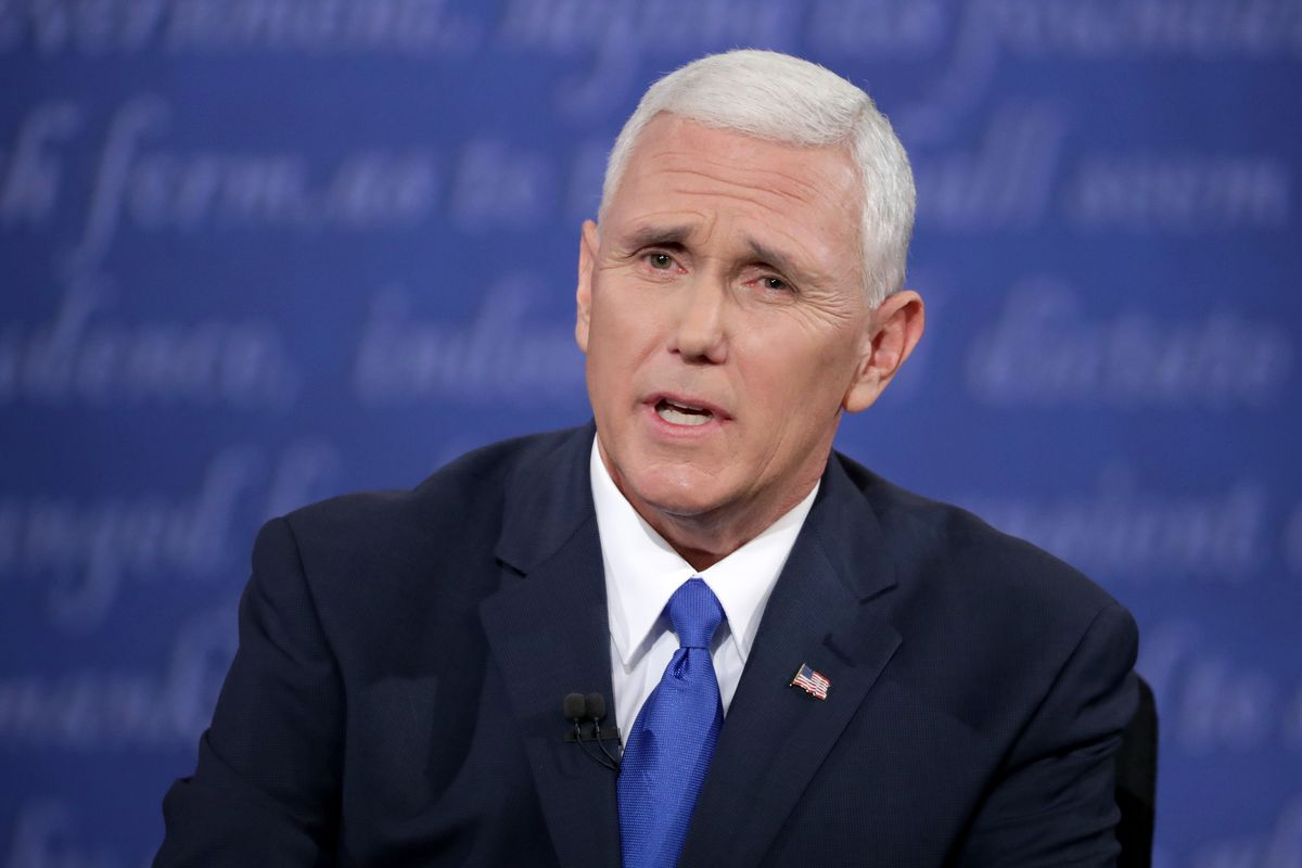 Mike Pence during the debate