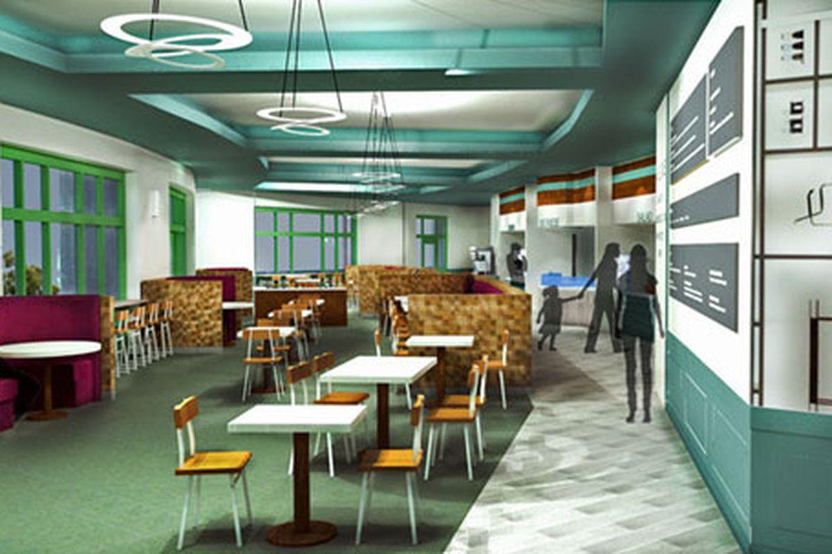 Rendering of Bullock Museum Cafe