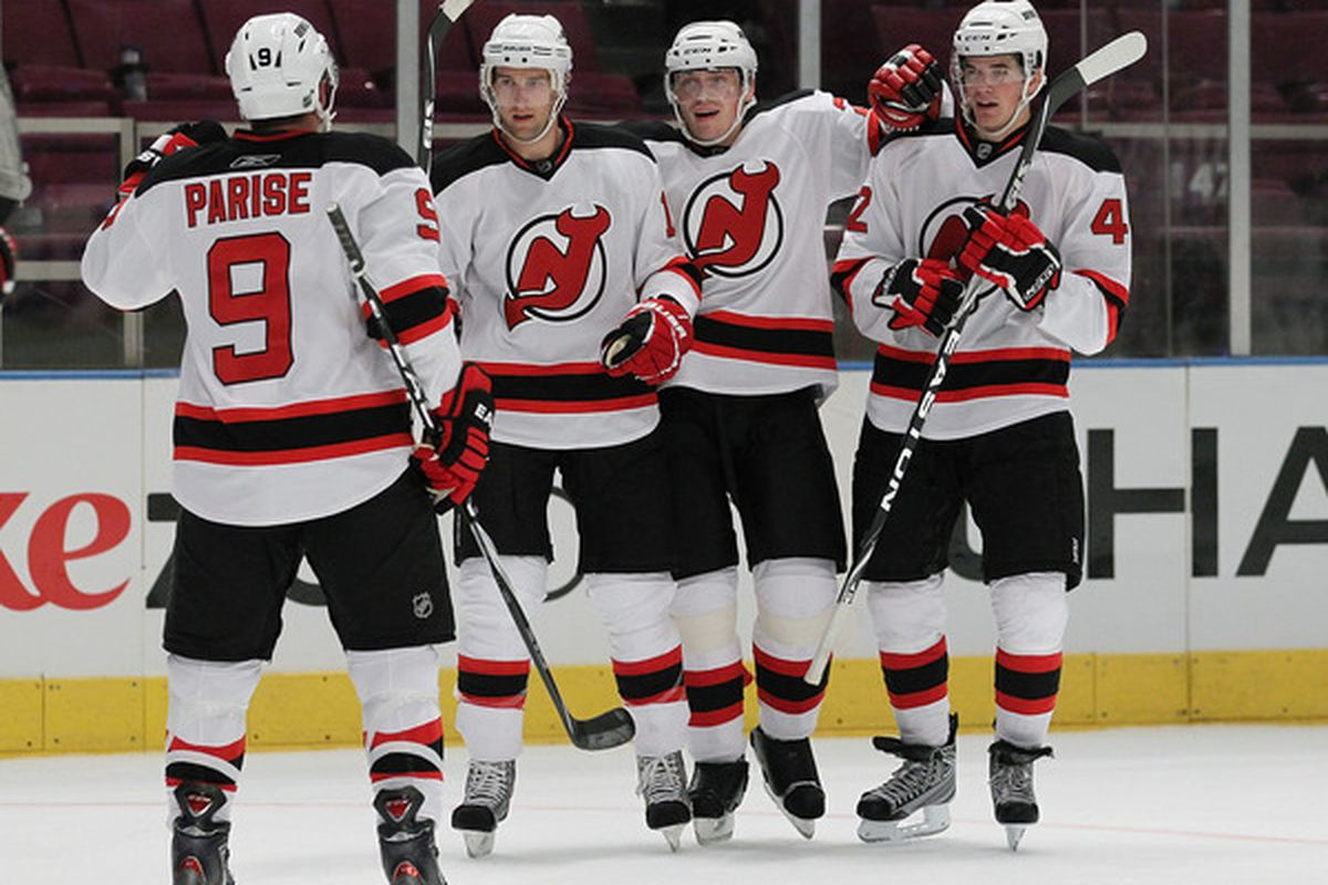 Zach Parise told Gulitti his line is playing tonight.  Who else will?  As of now, who but the Devils know? (Photo by Al Bello/Getty Images)
