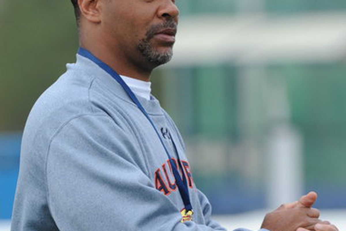 Auburn Coach Tommy Thigpen courtesy of al.com/Hal Yeager