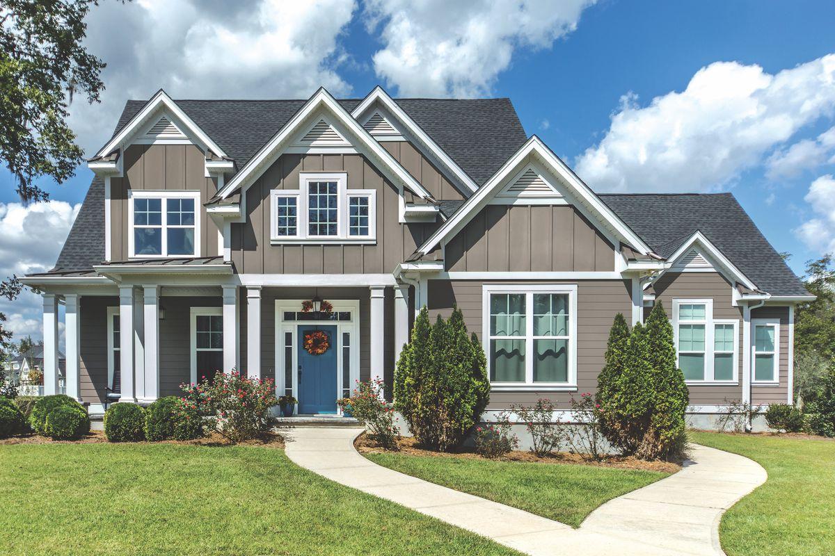 Home exterior featuring Everlast siding.