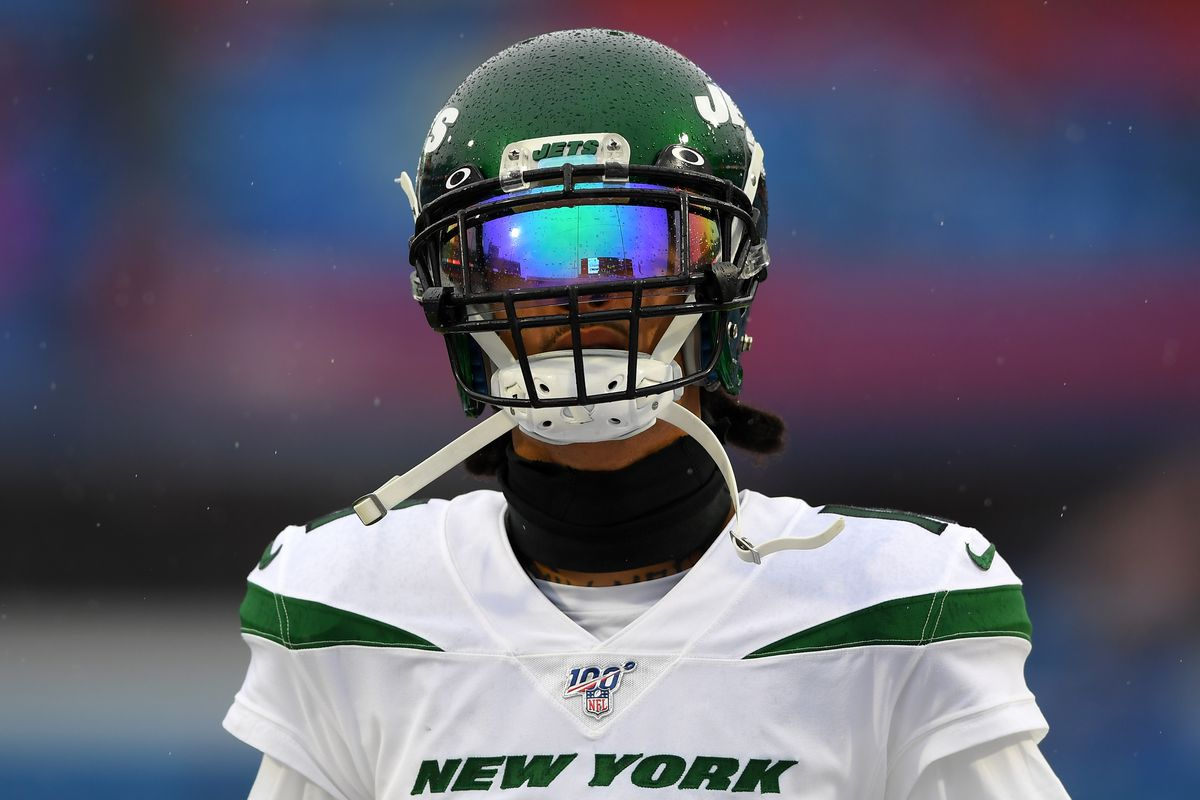 New York Jets wide receiver Robby Anderson looks on prior to the game against the Buffalo Bills at New Era Field.