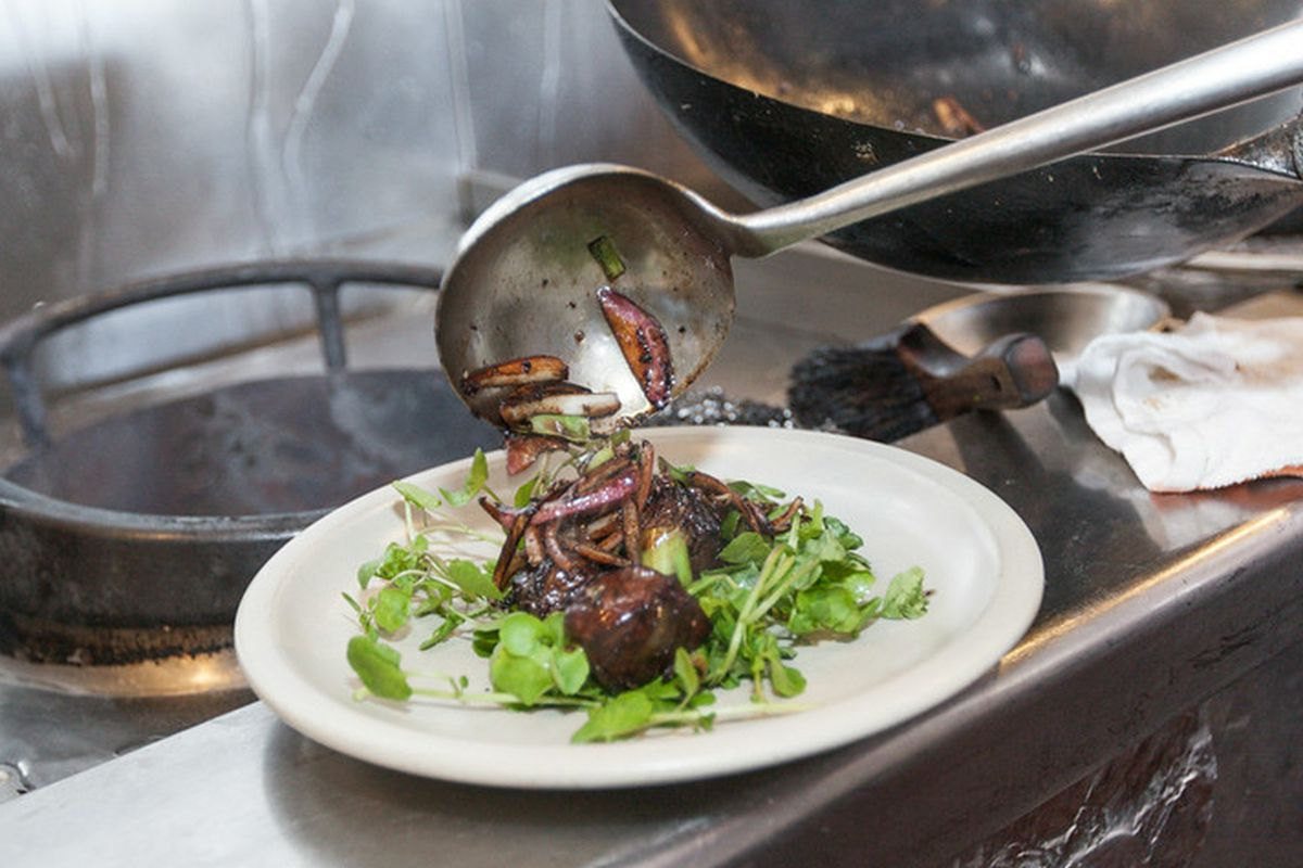Charles Phan S Shaking Beef At The Slanted Door In Sf Eater