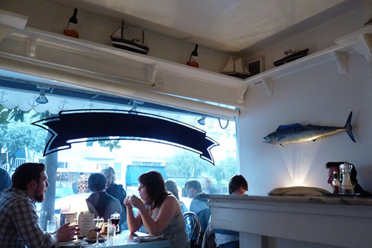 Cozy and crowded at Anchor Oyster Bar