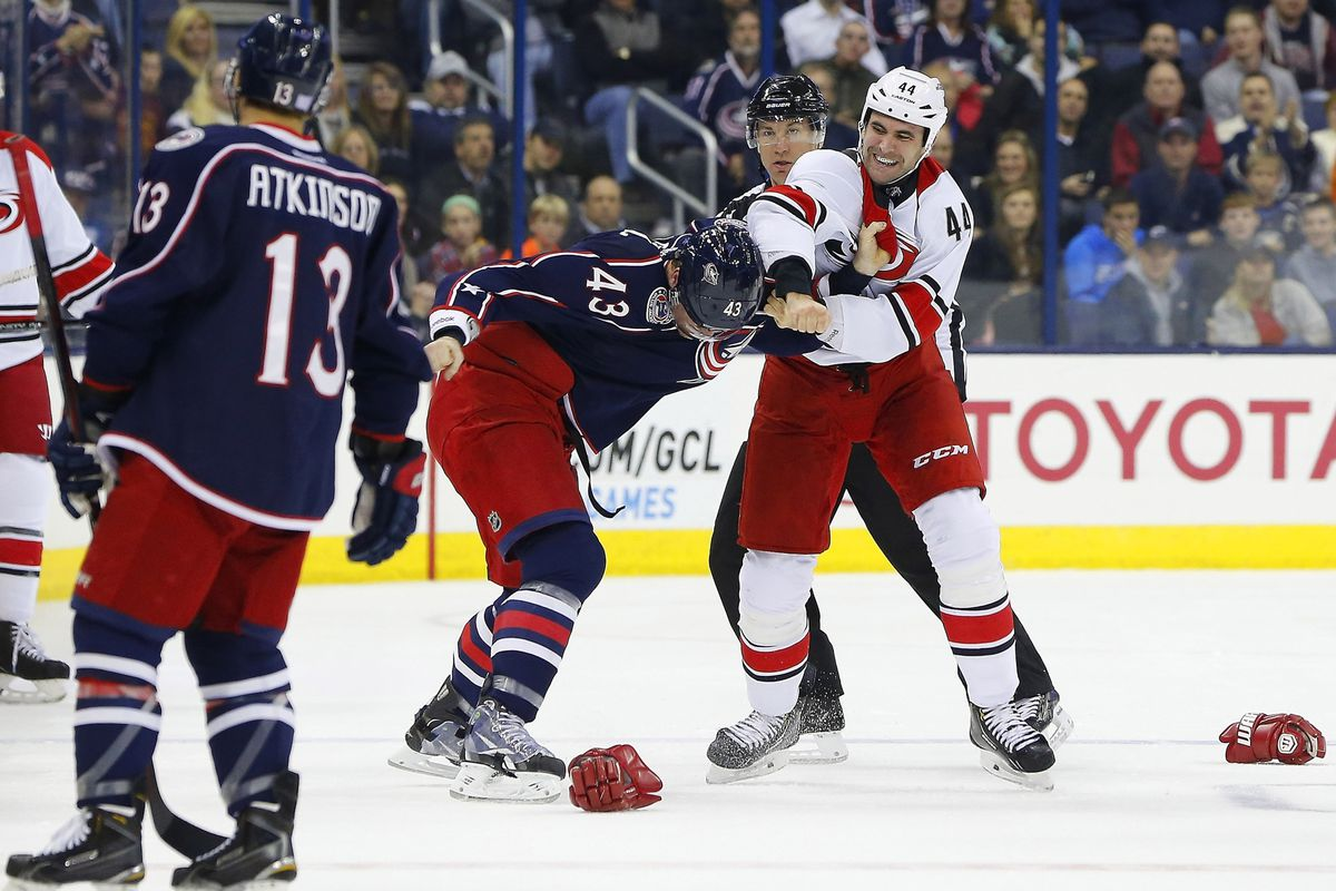 Canes and Jackets mix it up again tonight