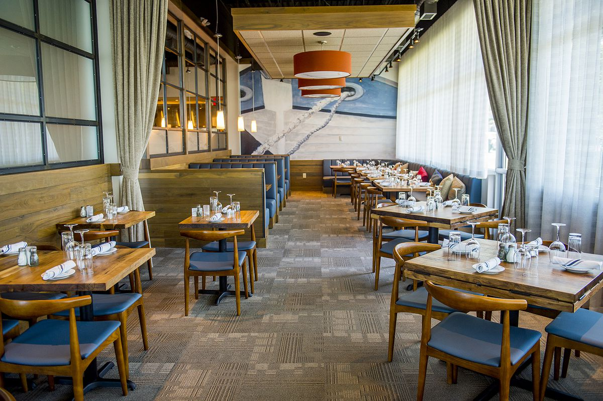 Inside the dining room at Noble Fin.