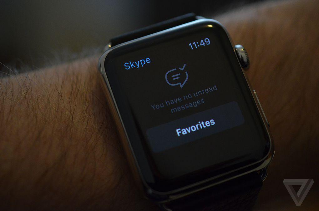Skype Apple Watch