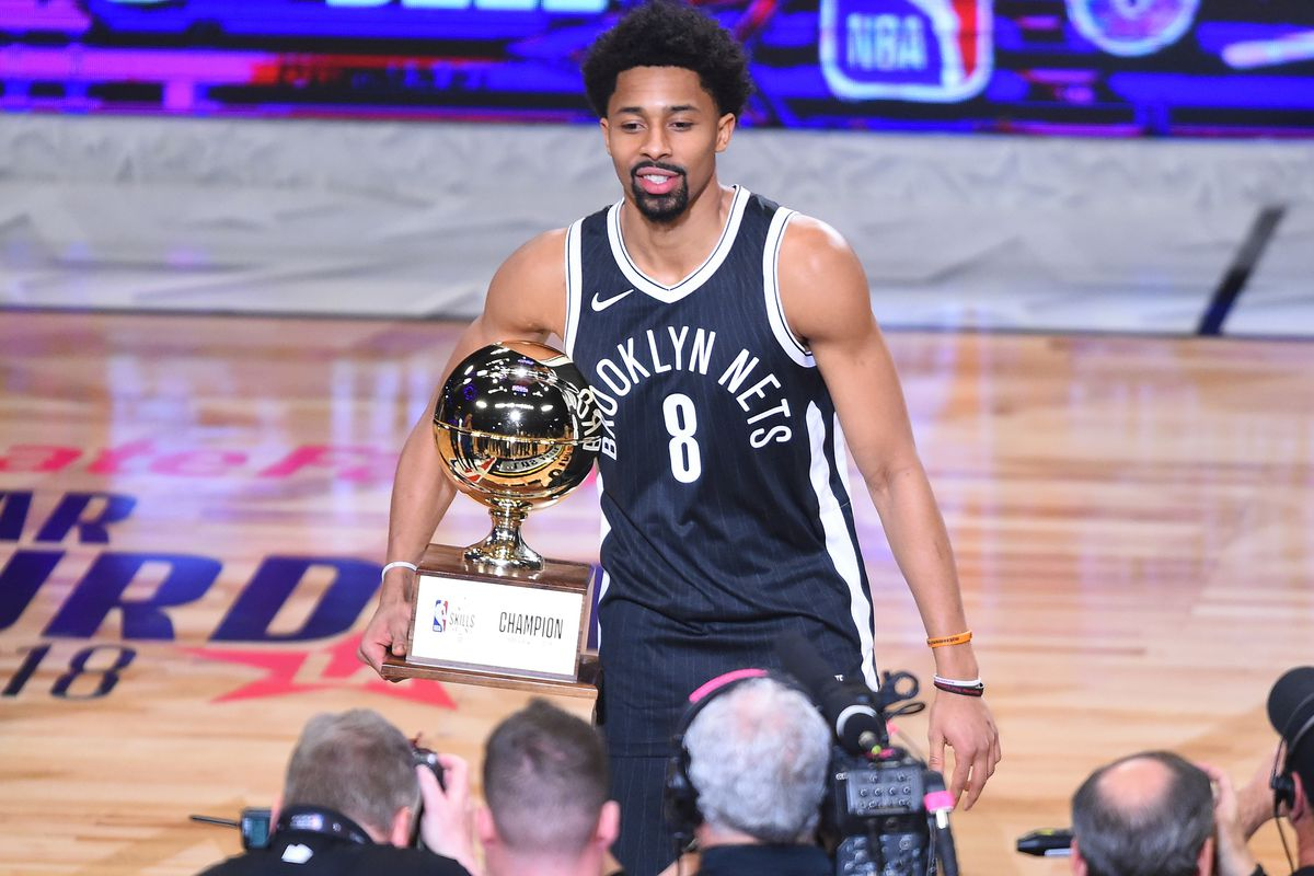 new concept e5b6e bb80b Spencer Dinwiddie, king of the long bombs! - NetsDaily