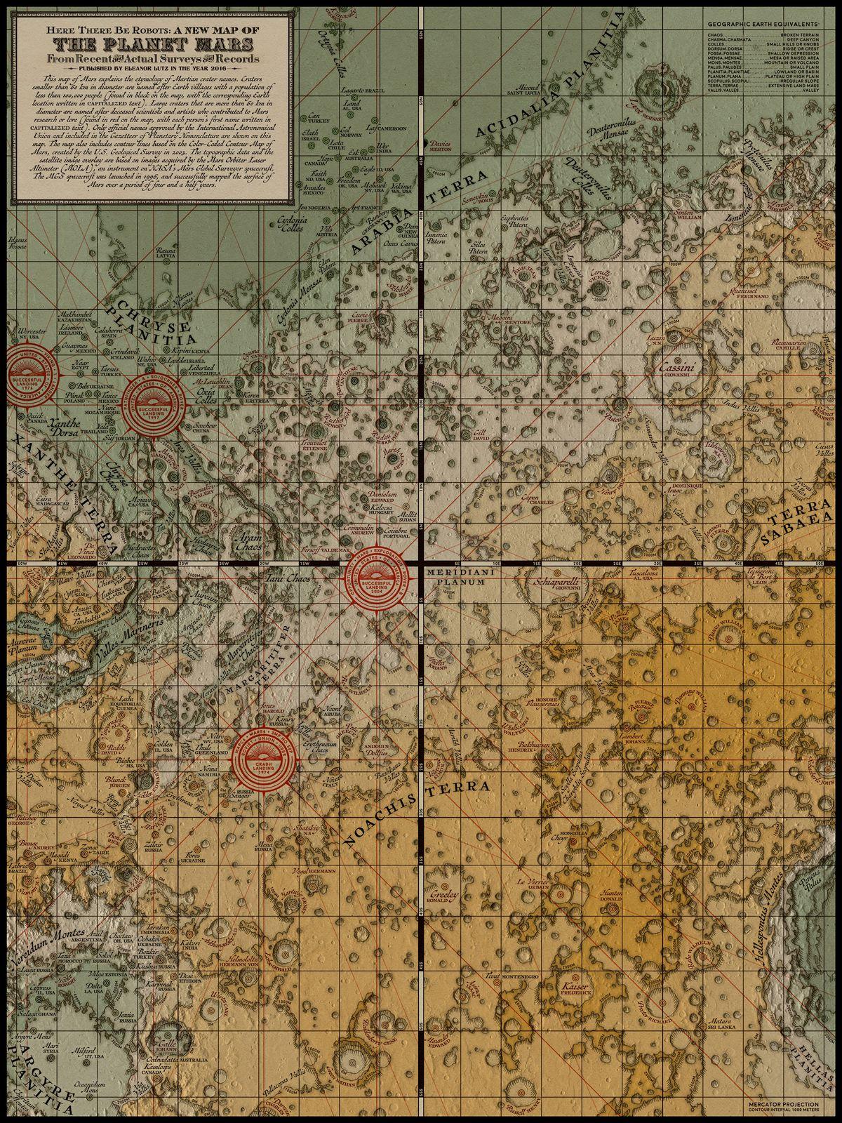 Mars medieval map eleanor lutz