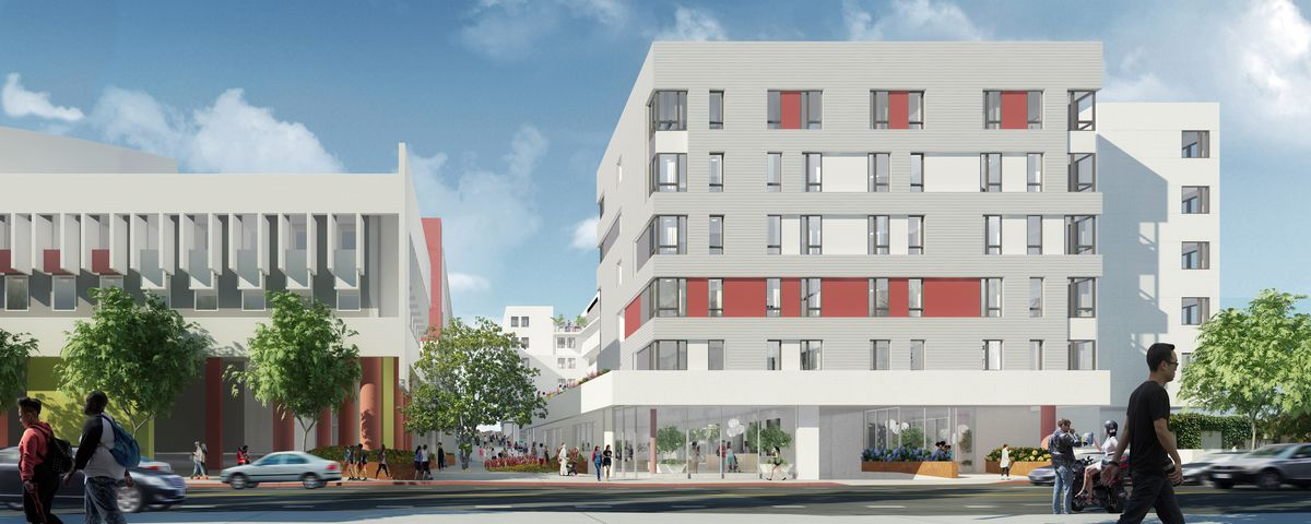 Rendering showing alternate view of project