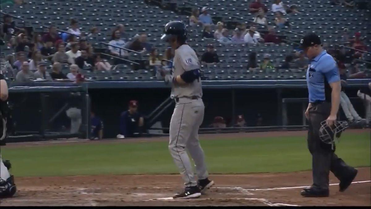 Witt touching home plate