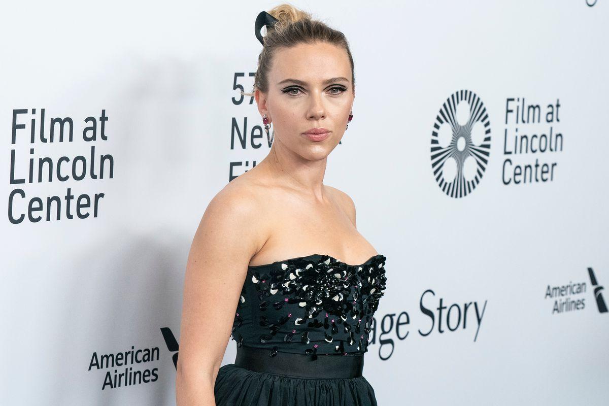 Scarlett Johansson attends a movie premier in New York in 2019.