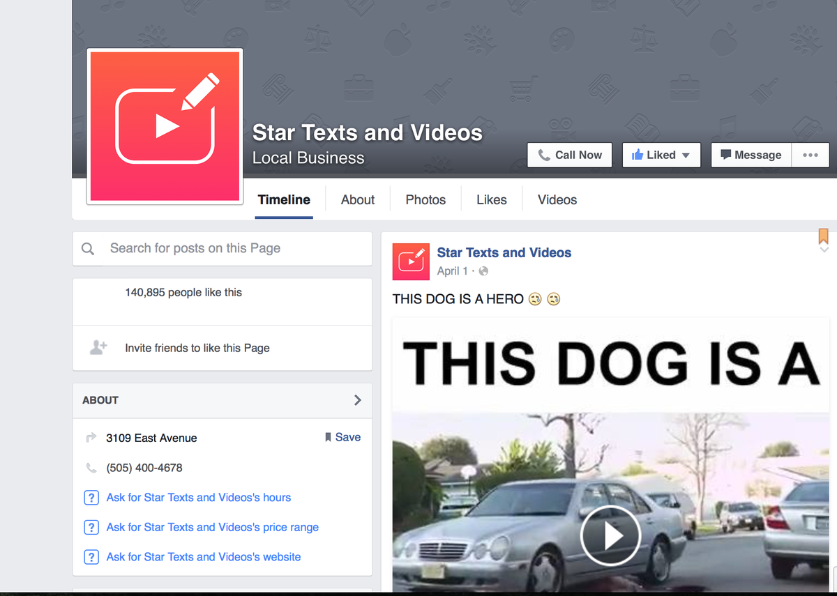 Hacked Big Star page