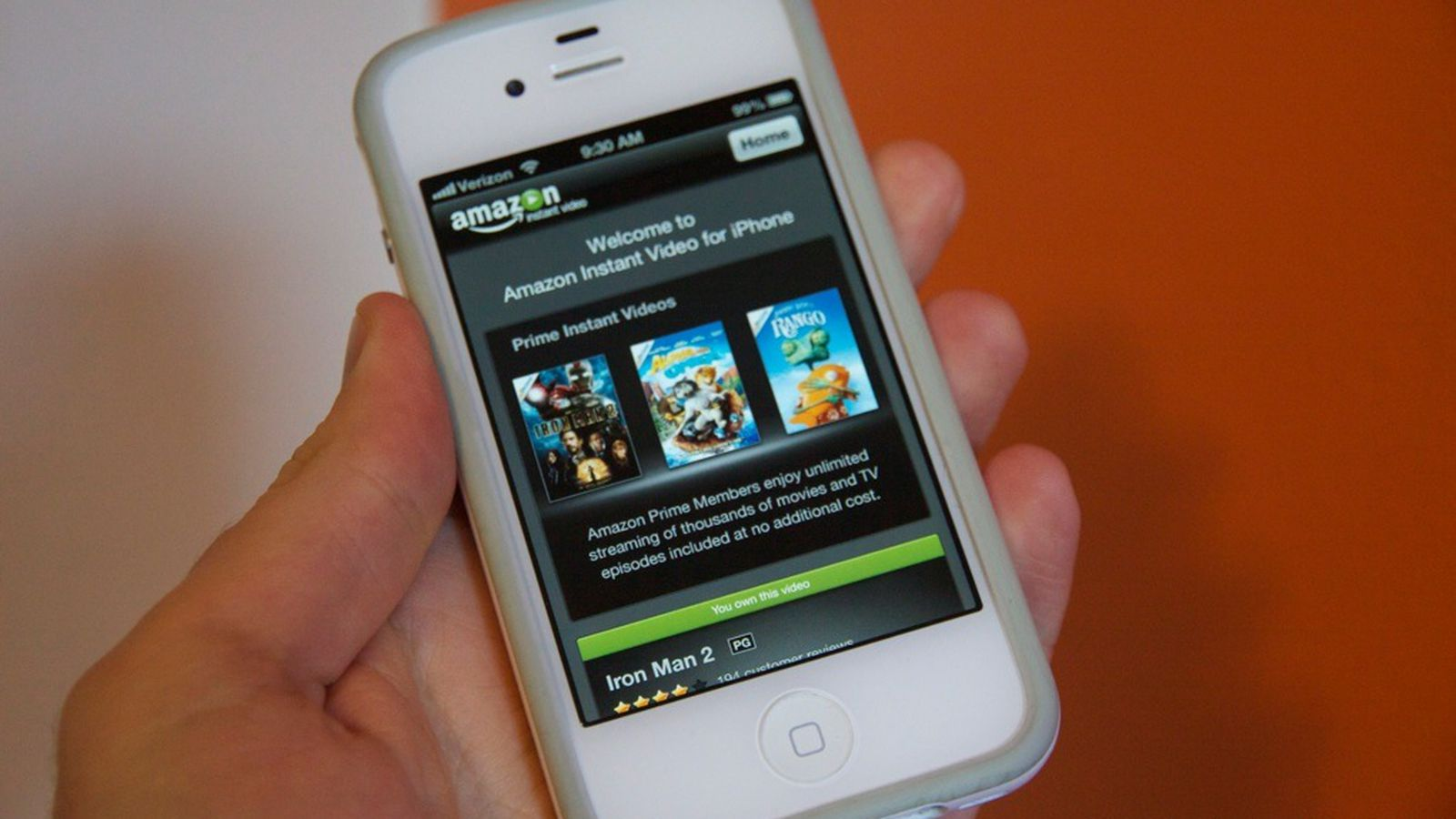 Amazon Instant Video app released for iPhone and iPod touch