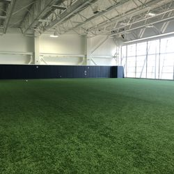 The 11,580 square foot turf room is used by many of NJIT's teams. For lacrosse, the coaches plan to have it available for players to have extra shooting sessions, as well as potential individual group workouts and box lacrosse in the near future.