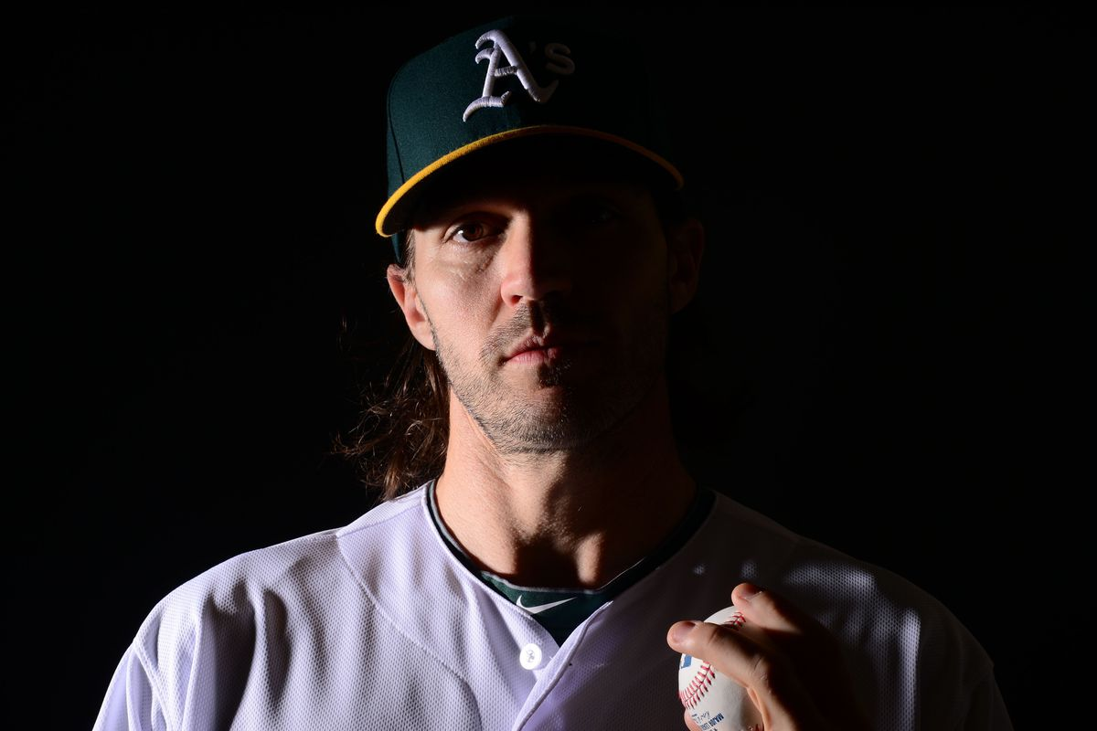 Presenting the newest A's starting pitcher.