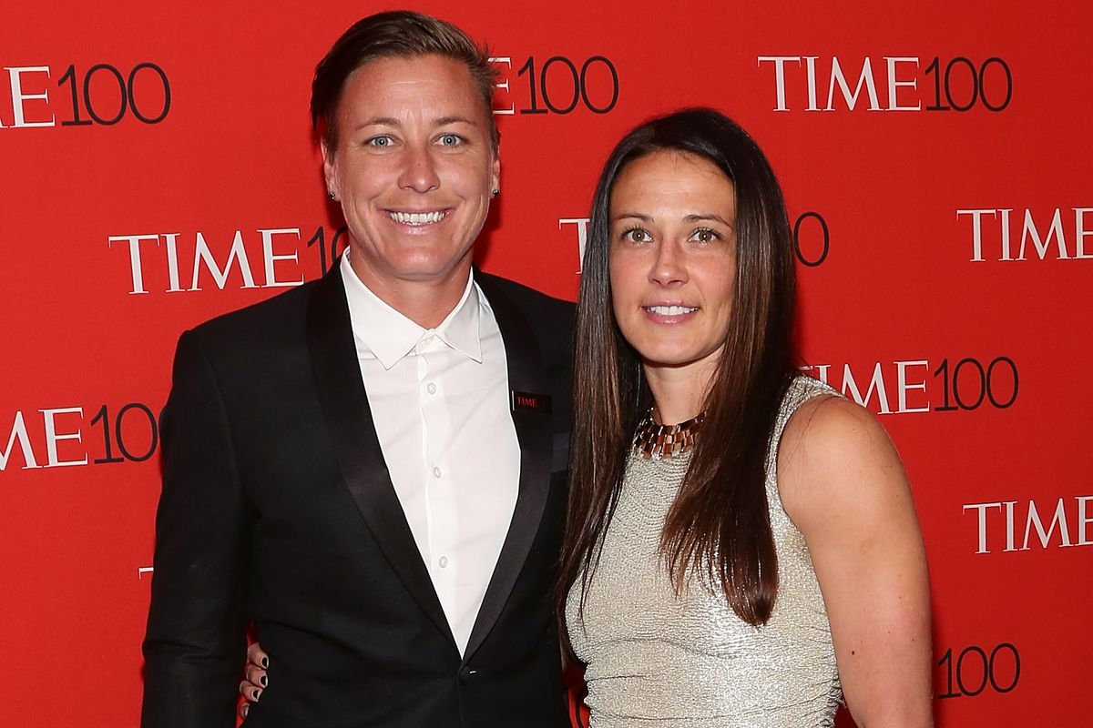 Abby Wambach, left, and Sarah Huffman married in 2013.