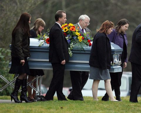 Powells, Coxes put differences aside for funeral of children