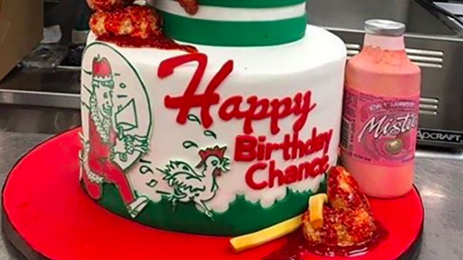 Chance The Rapper S Chicken Wing Birthday Cake Is